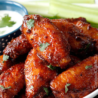 Buffalo Honey Hot Wings and Traditional Buffalo Hot Wings.
