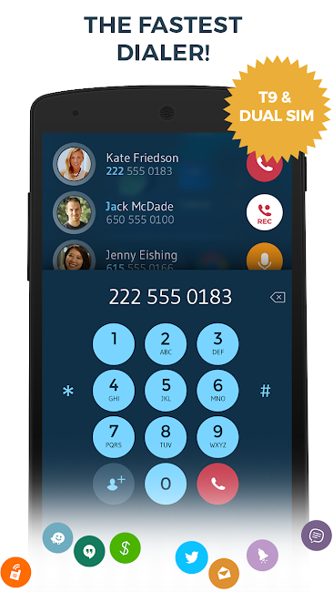 #3. Contacts Phone Dialer: drupe (Android)