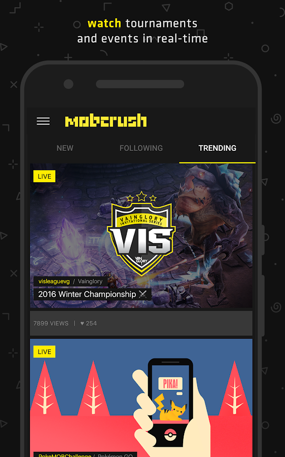 Mobcrush- screenshot