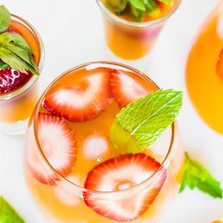 STRAWBERRY PEACH MINT BELLINIS.