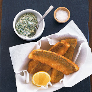 Crumbed King George Whiting and sauce gribiche