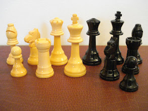 Photo: An example of a similar set (not owned by me) where the catalin has not wholly changed colour - the basic white colour can be seen quite clearly.  Note the difference in the shape of some pieces here with my set.