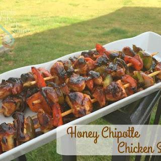 Honey Chipotle Chicken Skewers
