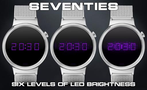 Download LED watch face   Vintage   Seventies Amethyst MOD APK 1