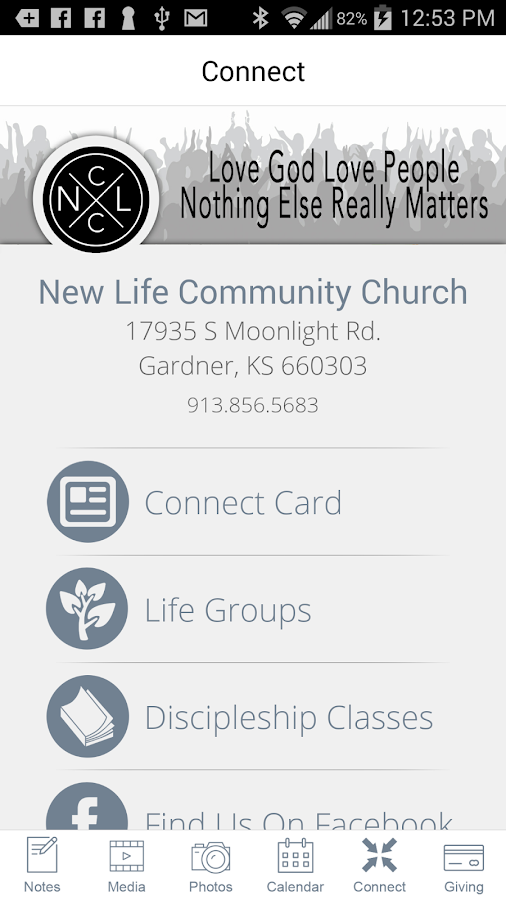 New Life Community Church- screenshot