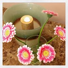 Photo: Flowers and Light #intercer #flowers #gerbera #pink #candles #light #beautiful #love #silence #petals #pretty #life - via Instagram, http://ift.tt/1Czx9X9