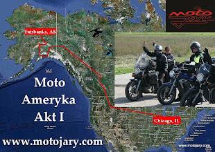 Photo: Uczestnicy wyprawy z Chicago do Fairbanks (AD 2010) i planowany zarys trasy