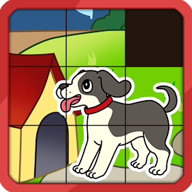 Дети животных Slide Puzzle