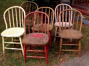 Photo: SIX VINTAGE CHAIRS: SOLD