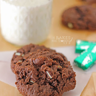 Mint Chocolate Cream Cheese Cookies