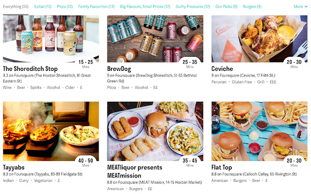 Deliverate (Foursquare ratings for Deliveroo)