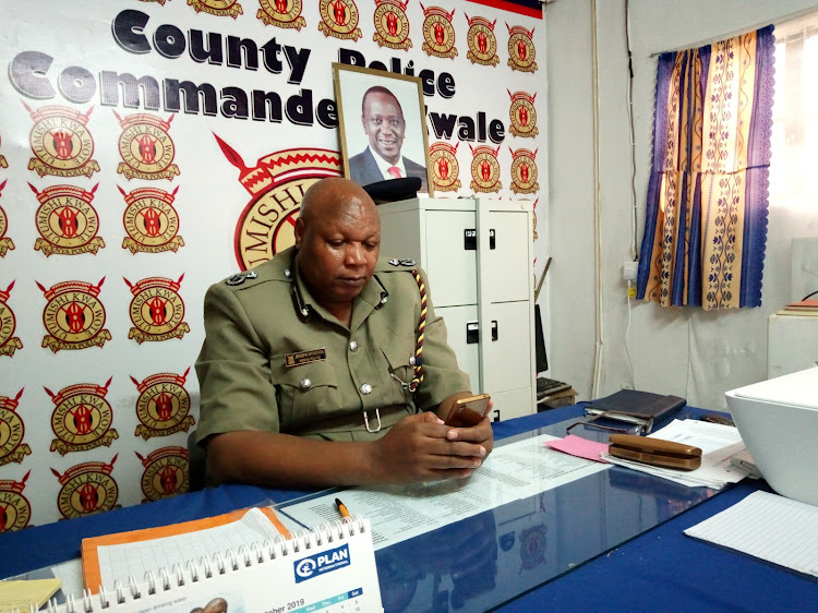 Kwale county commissioner Joseph Nthenge at office in Matuga subcounty.C