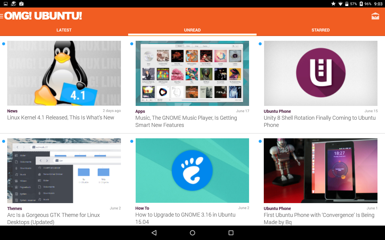 OMG! Ubuntu! for Android- screenshot