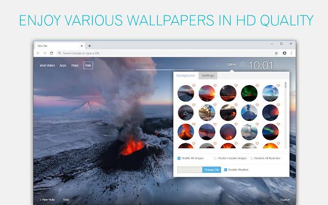 Volcano Wallpaper HD Volcanoes New Tab