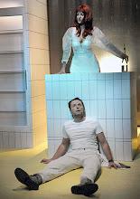 """Photo: WIEN/ BURGTHEATER/ Vestibül: """" Am Beispiel der Butter"""" von Ferdinand Schmalz. Inszenierung: Alexander Wiegold. Catrin Striebeck, Peter Knaack. Foto: Barbara Zeininger"""