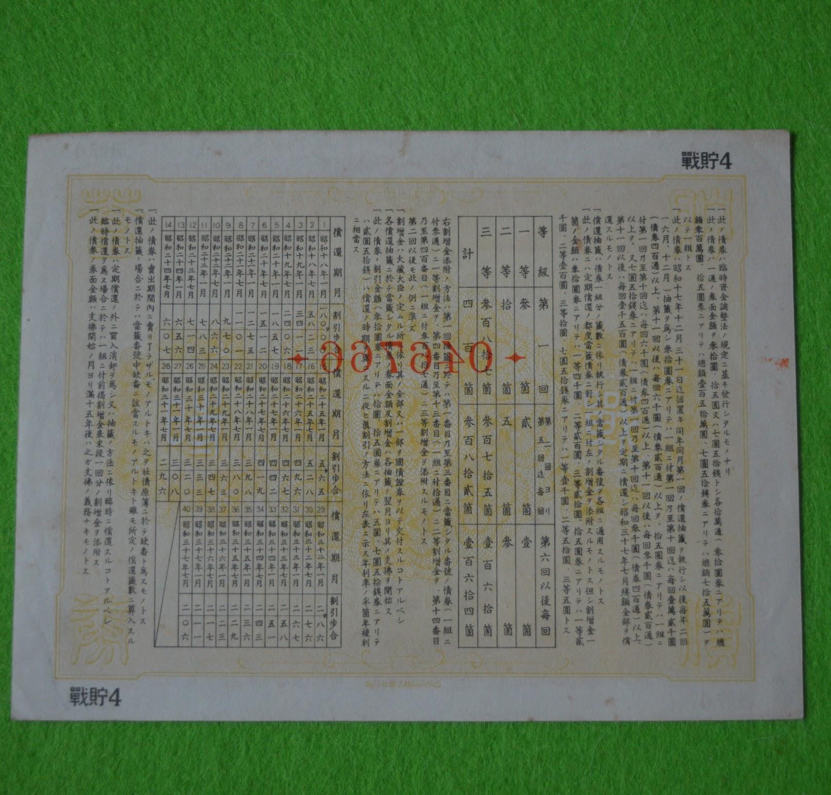 Japanische Kriegsanleihe - 1942