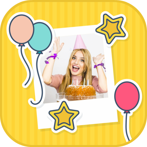 Happy Birthday Cards Collage Maker Icon
