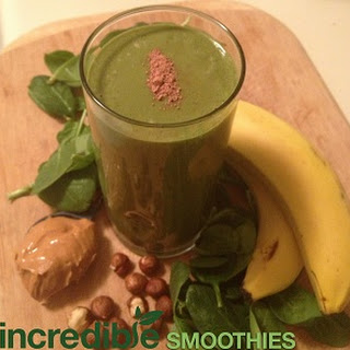 Chocolate-Peanut Butter Green Smoothie with Hazelnut Milk