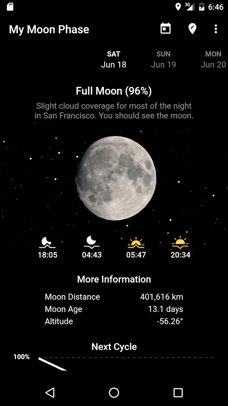My Moon Phase Pro - Moon, Golden Hour & Blue Hour! Screenshot