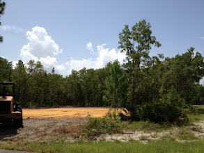 Photo: Land clearing and prep is almost complete. Photo by Lake Weir Living