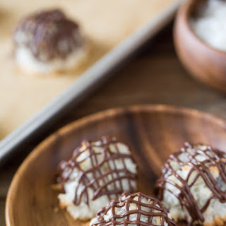 Stuffed Chocolate Almond Macaroons