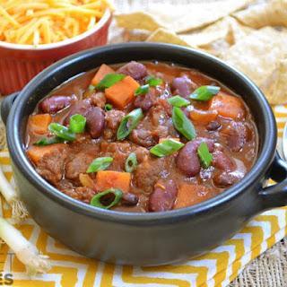 Chorizo Sweet Potato Chili.