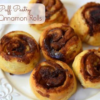 Puff Pastry Cinnamon Rolls.