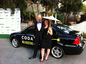 Photo: Josh Tickell & Rebecca Harrell Tickell just arrived to meet up with other eco- celebs here in Santa Monica.