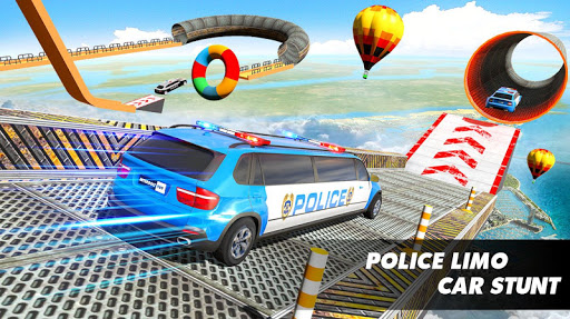 Police Limo Car Stunts GT Racing: Ramp Car Stunt modavailable screenshots 14