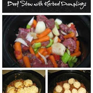Beef Stew with Herbed Dumplings.