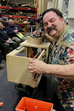"Photo: Bob Rupp the ""redneck woodturner"" originally from  New York, now from Baltimore."