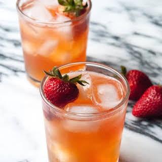 Strawberry Ginger Kombucha Cocktail.