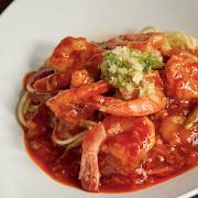 Szechuan Shrimp Spaghetti