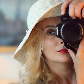 The Moment by Edina Zsarnai - People Portraits of Women ( selfie, portrait, edina zsarnai, photography, colorful, women, moment,  )