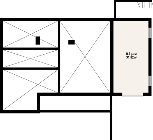Sławopole - Rzut piwnicy