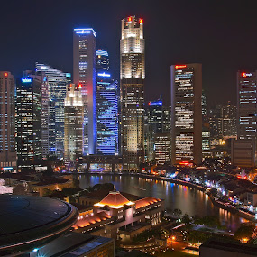 singapore skylines by Sim Kim Seong - City,  Street & Park  Skylines