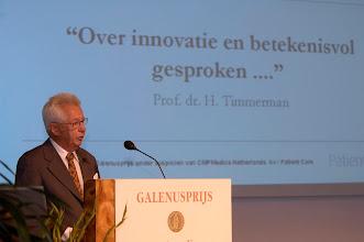 Photo: Bijeenkomst ter gelegenheid van de uitreiking van de Galenus Geneesmiddelenprijs en Galenus Researchprijs 2007 in Naturalis in Leiden