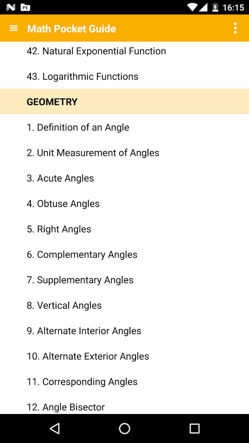 Math - complete pocket guide Screenshot 0