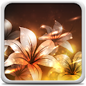 Glowing Flowers Live Wallpaper icon