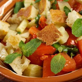Tomato-Bread Salad with Za'atar Vinaigrette