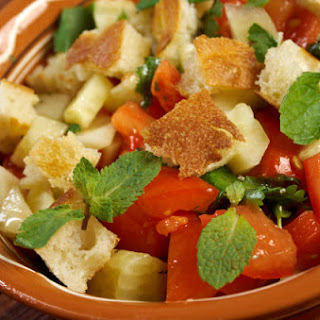 Tomato-Bread Salad with Za'atar Vinaigrette.