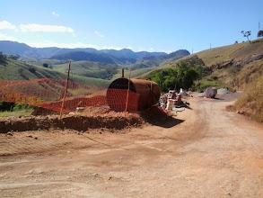 Photo: obras na serra de Carangola