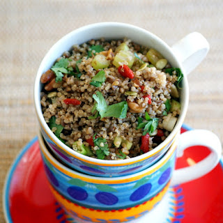 Quinoa Salad with Buckwheat and Goji Berries.