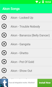 Akon Songs Lyrics Mp3 screenshot 0