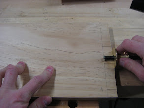 Photo: Making crisp knife marks for cutting out the waste