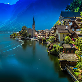 Hallstatt with long exposure by Arif Sarıyıldız - Landscapes Travel ( salzburg, long exposure, hallstatt, travel photography, austria )