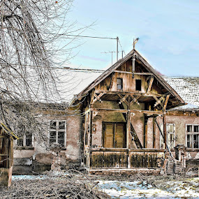 old house by Miroslav Bičanić - Buildings & Architecture Decaying & Abandoned ( city, old, wood, abandoned, house, architecture )
