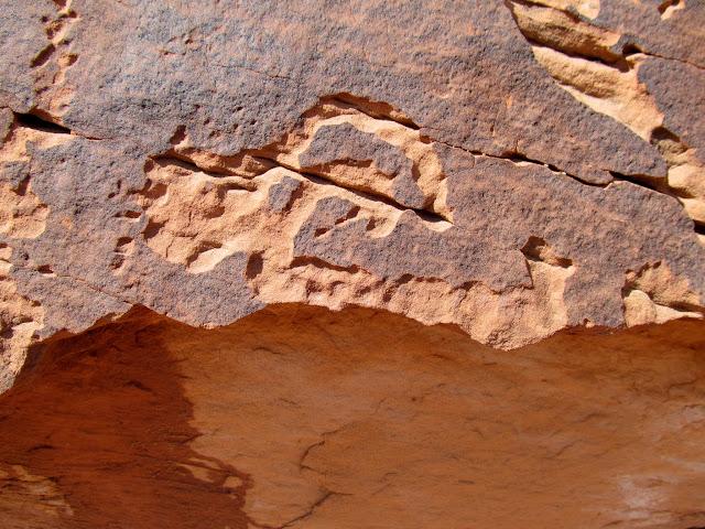 Broken sheep petroglyph