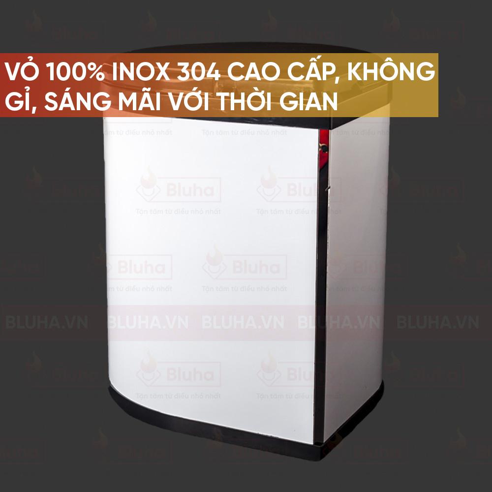 Vỏ 100% INOX 304 cap cấp, không gỉ, sáng mãi với thời gian - Thùng rác inox 9L, cánh mở Garis BR01.400 - Phụ kiện bếp chính hãng