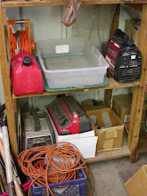 Photo: Portable generators, extension cords, and fuel